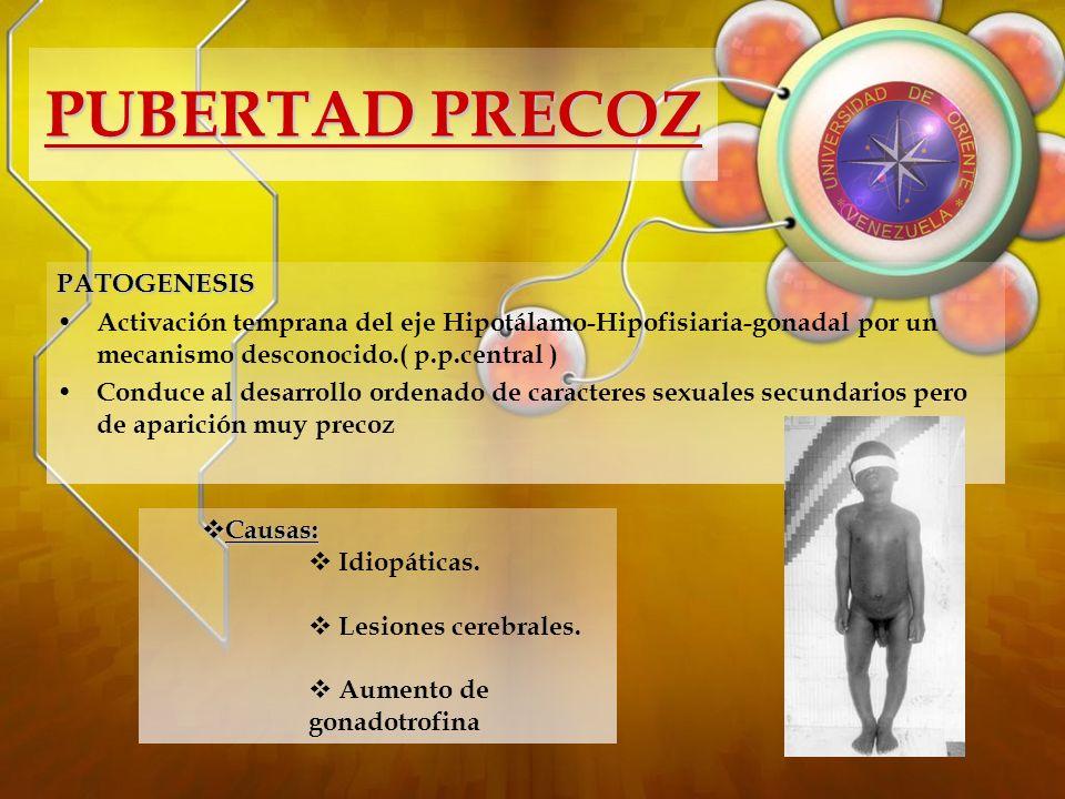 PUBERTAD PRECOZ PATOGENESIS