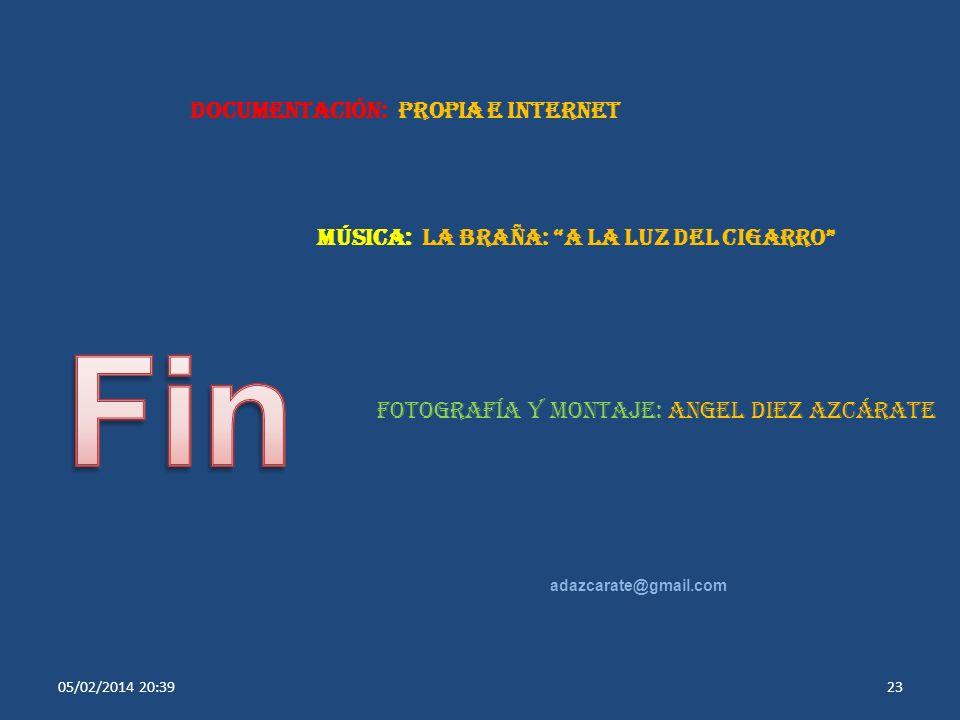 Fin Documentación: Propia e Internet