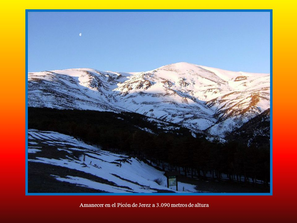 Amanecer en el Picón de Jerez a 3.090 metros de altura
