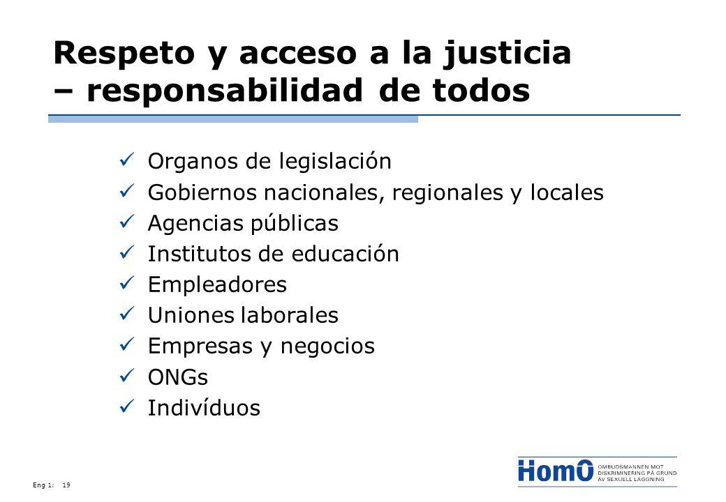 Respeto y acceso a la justicia – responsabilidad de todos