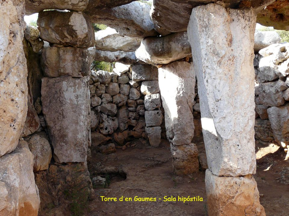 Torre d´en Gaumes – Sala hipóstila