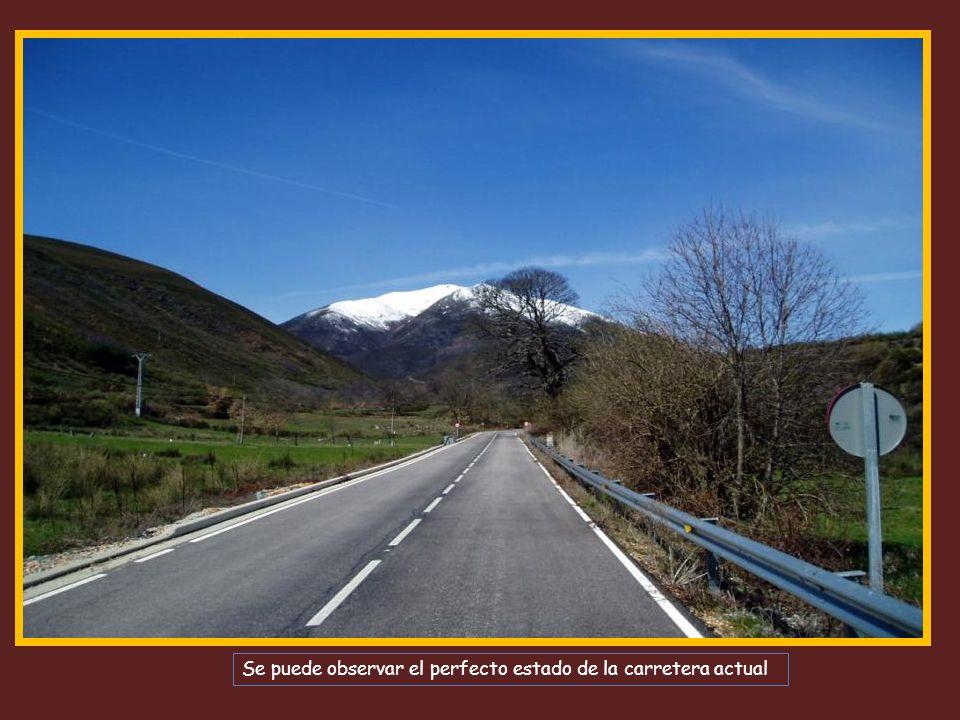 Se puede observar el perfecto estado de la carretera actual