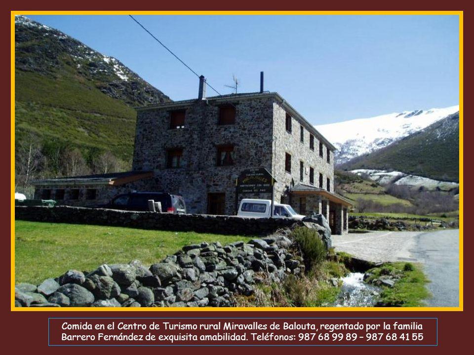 Comida en el Centro de Turismo rural Miravalles de Balouta, regentado por la familia Barrero Fernández de exquisita amabilidad.