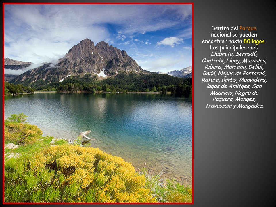 Dentro del Parque nacional se pueden encontrar hasta 80 lagos