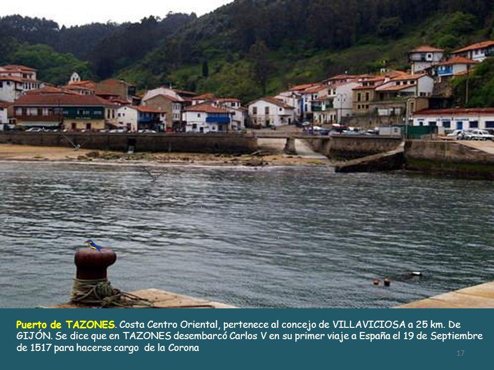 Puerto de TAZONES. Costa Centro Oriental, pertenece al concejo de VILLAVICIOSA a 25 km.