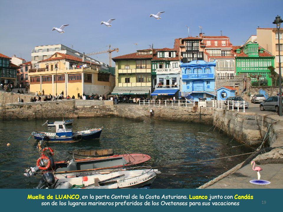 Muelle de LUANCO, en la parte Central de la Costa Asturiana
