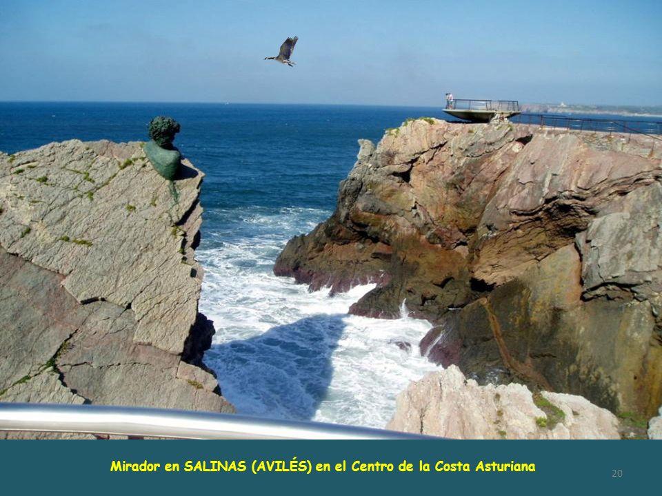 Mirador en SALINAS (AVILÉS) en el Centro de la Costa Asturiana
