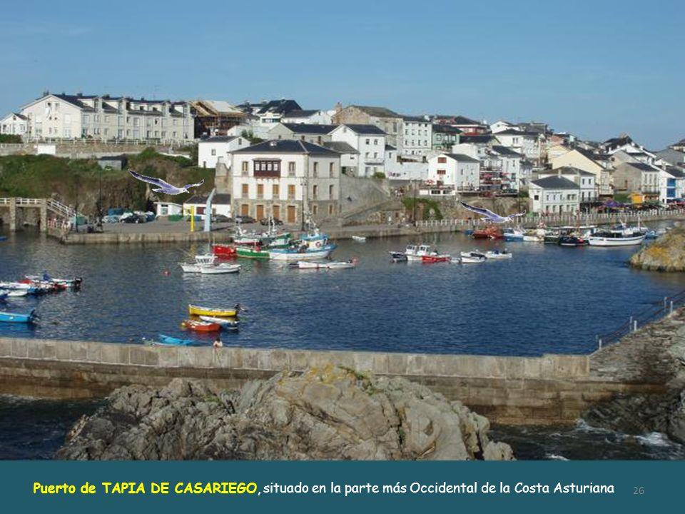 Puerto de TAPIA DE CASARIEGO, situado en la parte más Occidental de la Costa Asturiana