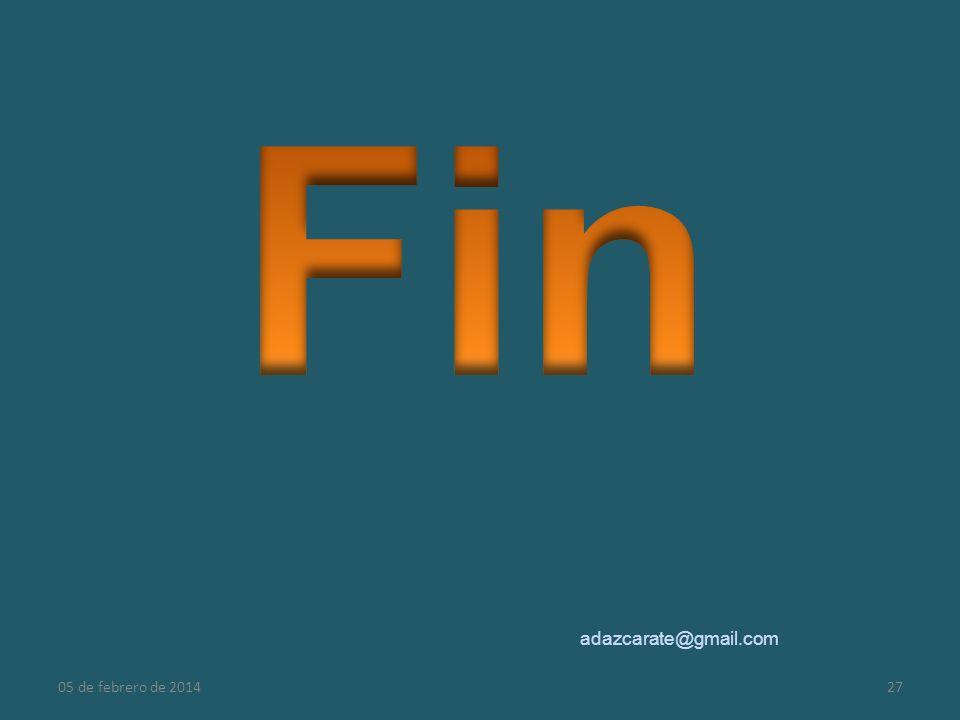 Fin adazcarate@gmail.com 24 de marzo de 2017