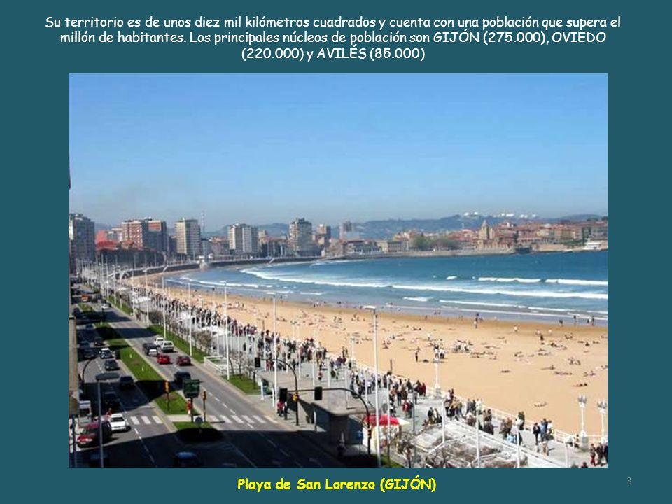 Su territorio es de unos diez mil kilómetros cuadrados y cuenta con una población que supera el millón de habitantes. Los principales núcleos de población son GIJÓN (275.000), OVIEDO (220.000) y AVILÉS (85.000)