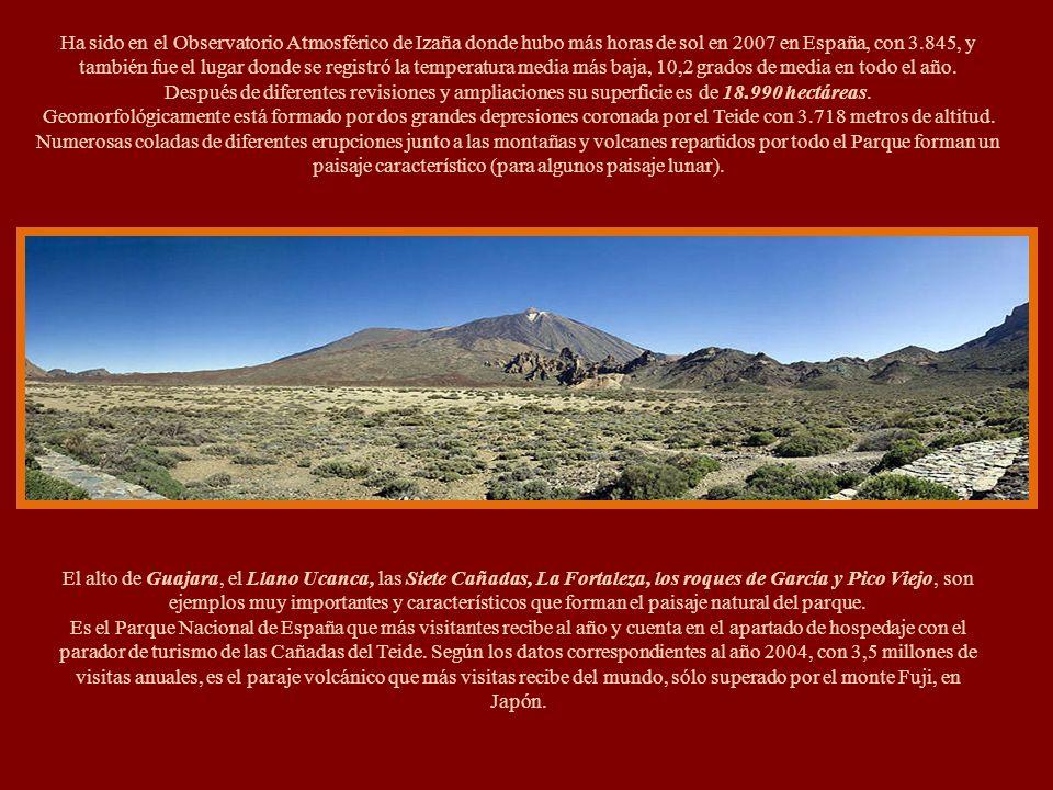 Ha sido en el Observatorio Atmosférico de Izaña donde hubo más horas de sol en 2007 en España, con 3.845, y también fue el lugar donde se registró la temperatura media más baja, 10,2 grados de media en todo el año.