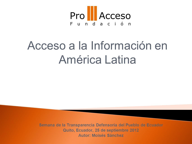 Acceso a la Información en América Latina