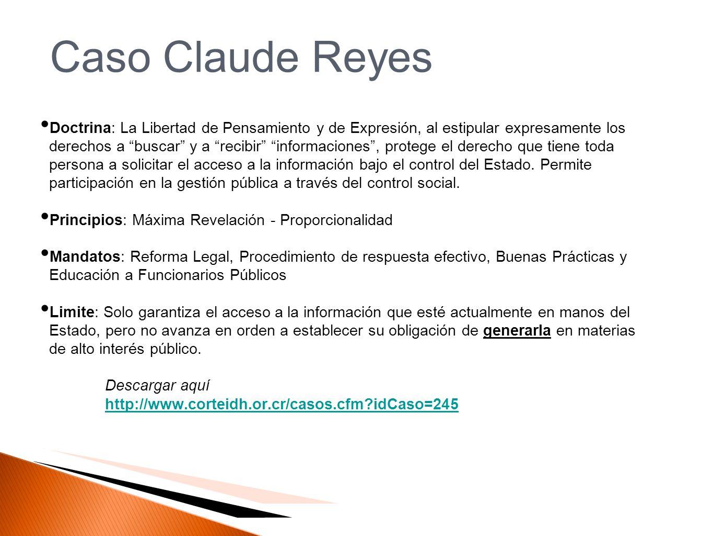 Caso Claude Reyes