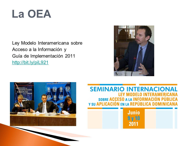 La OEA Ley Modelo Interamericana sobre Acceso a la Información y