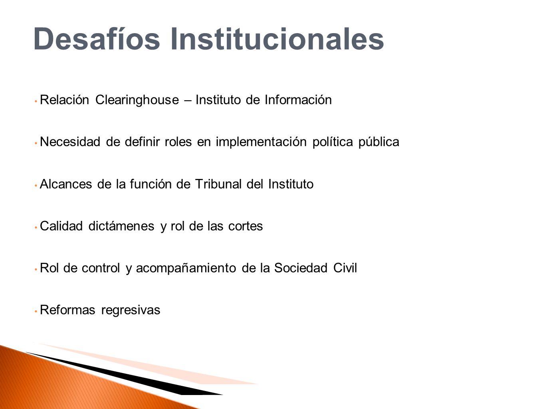 Desafíos Institucionales