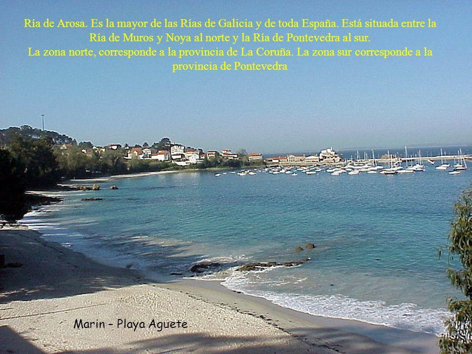 Ría de Arosa. Es la mayor de las Rías de Galicia y de toda España