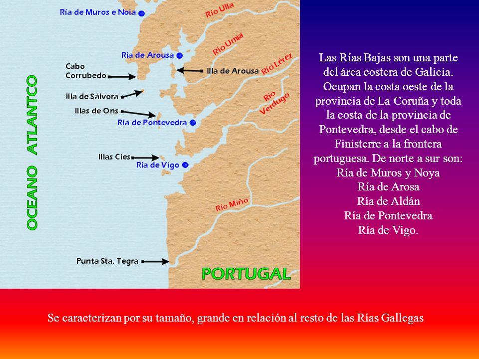 Las Rías Bajas son una parte del área costera de Galicia