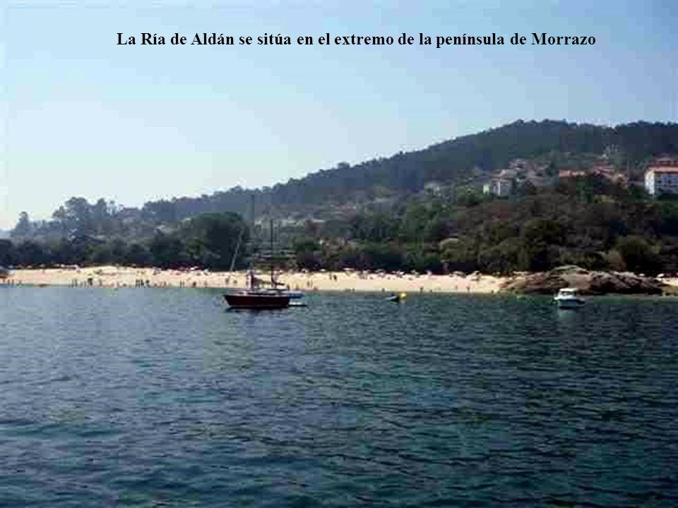 La Ría de Aldán se sitúa en el extremo de la península de Morrazo