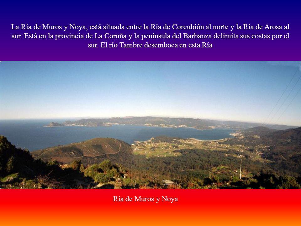 La Ría de Muros y Noya, está situada entre la Ría de Corcubión al norte y la Ría de Arosa al sur. Está en la provincia de La Coruña y la península del Barbanza delimita sus costas por el sur. El río Tambre desemboca en esta Ría