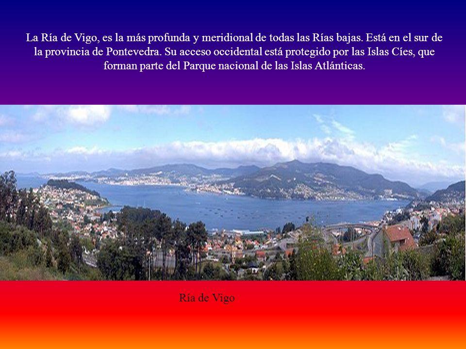 La Ría de Vigo, es la más profunda y meridional de todas las Rías bajas. Está en el sur de la provincia de Pontevedra. Su acceso occidental está protegido por las Islas Cíes, que forman parte del Parque nacional de las Islas Atlánticas.
