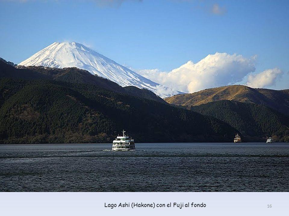 Lago Ashi (Hakone) con el Fuji al fondo
