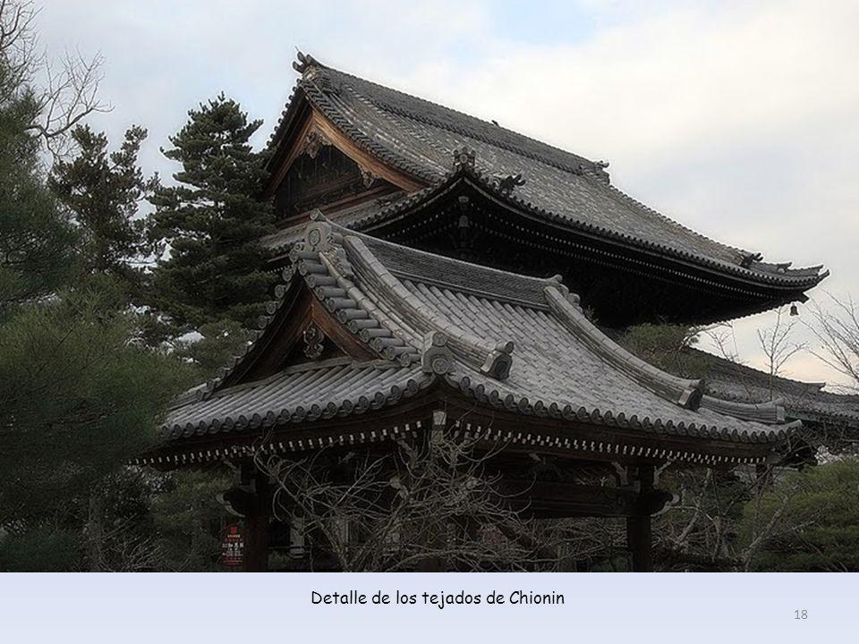 Detalle de los tejados de Chionin