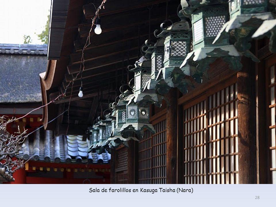 Sala de farolillos en Kasuga Taisha (Nara)