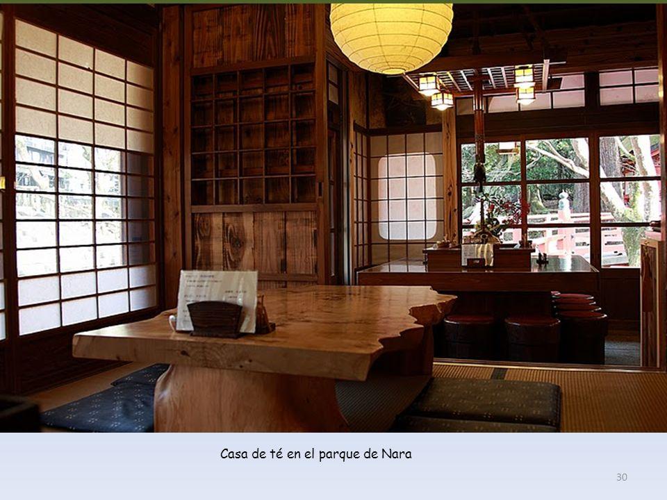Casa de té en el parque de Nara