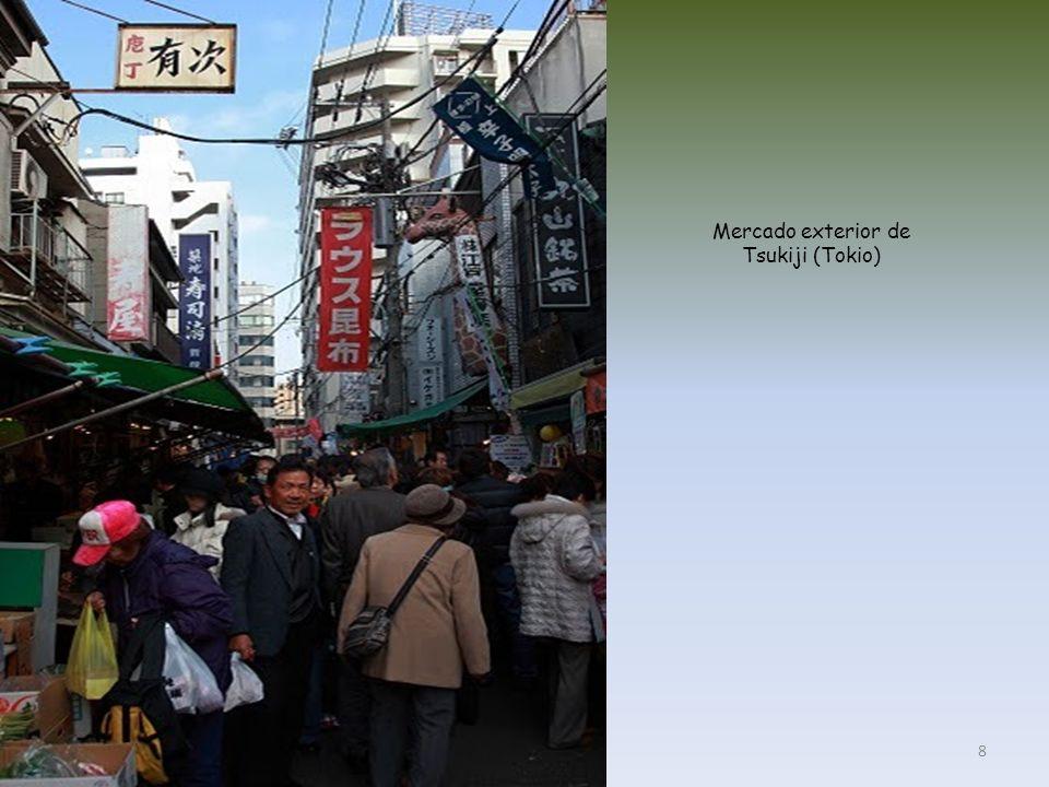 Mercado exterior de Tsukiji (Tokio)