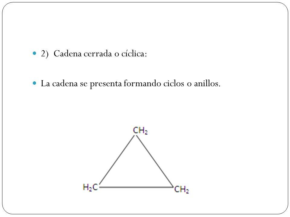 2) Cadena cerrada o cíclica: