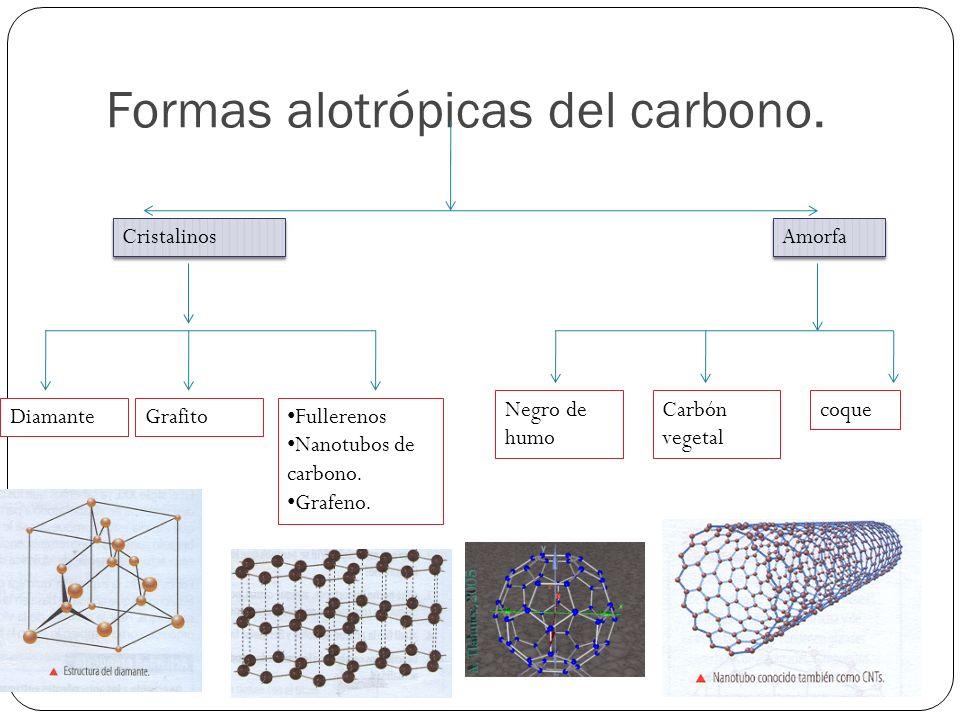 Formas alotrópicas del carbono.