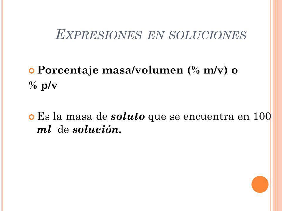 Expresiones en soluciones