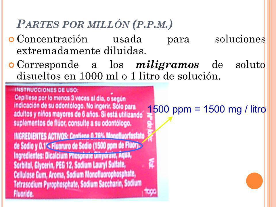 Partes por millón (p.p.m.)