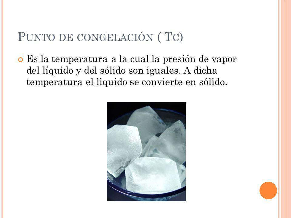 Punto de congelación ( Tc)