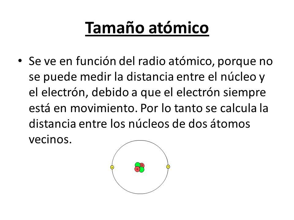 Tamaño atómico