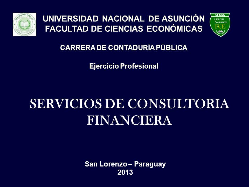 SERVICIOS DE CONSULTORIA FINANCIERA