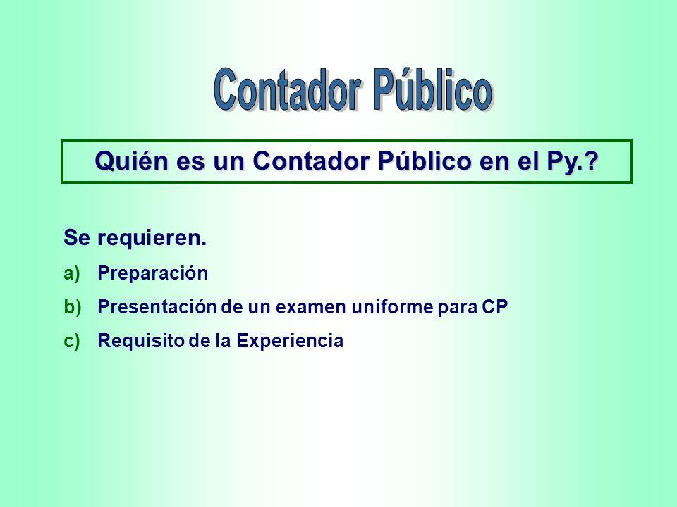 Quién es un Contador Público en el Py.