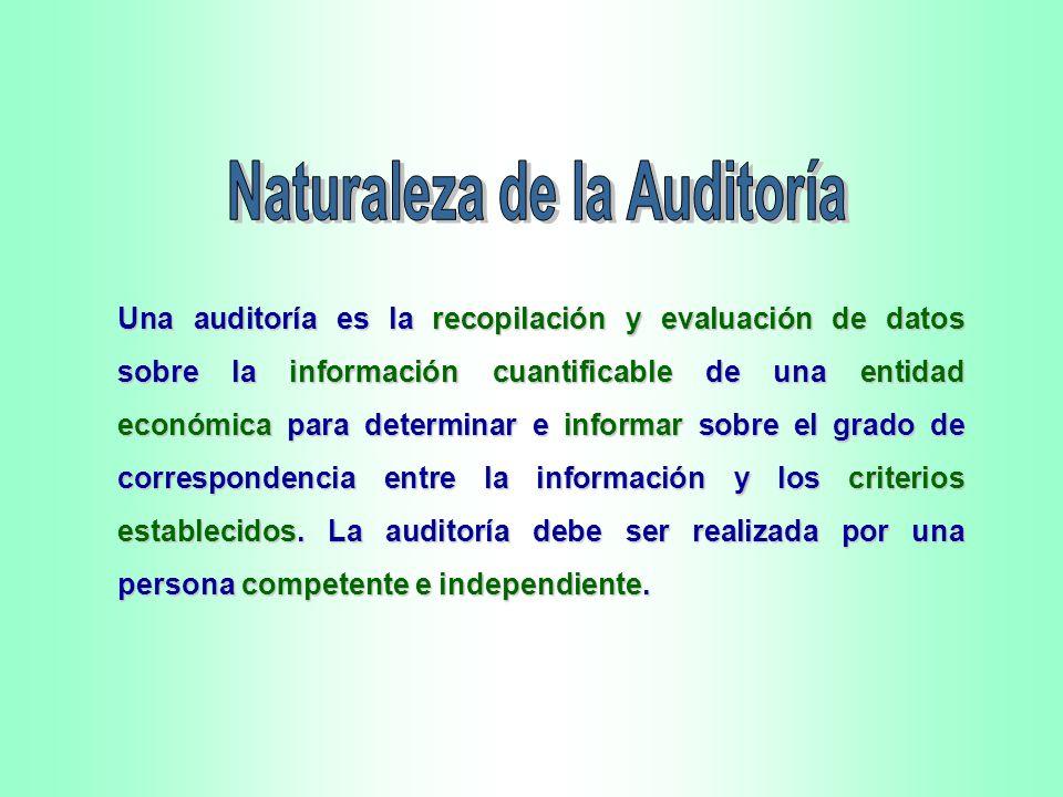 Naturaleza de la Auditoría