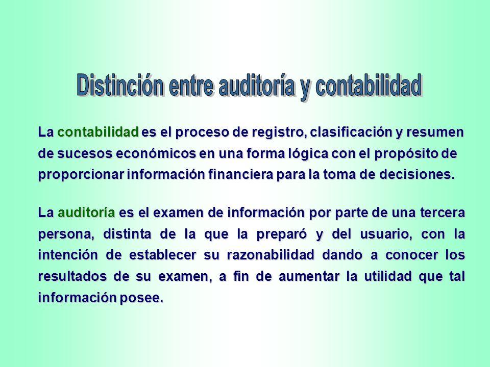 Distinción entre auditoría y contabilidad