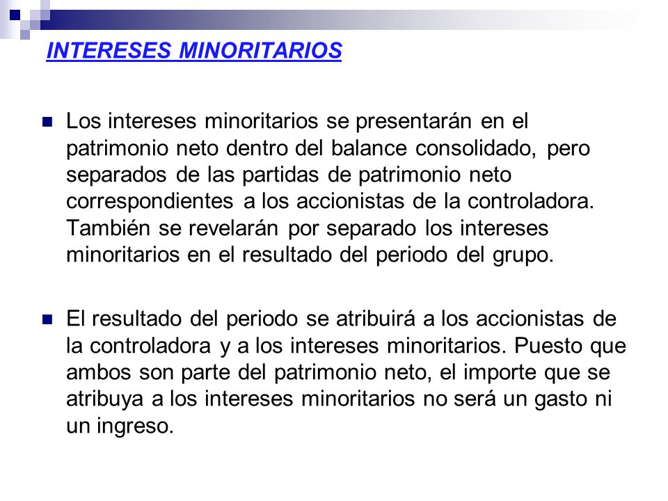 INTERESES MINORITARIOS