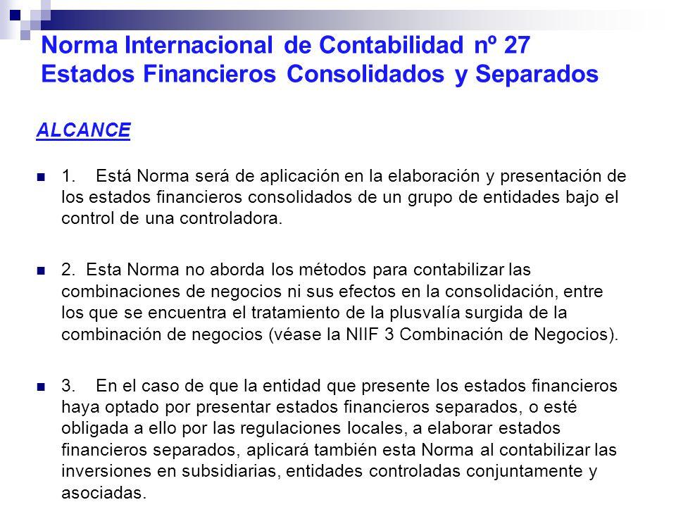 Norma Internacional de Contabilidad nº 27 Estados Financieros Consolidados y Separados