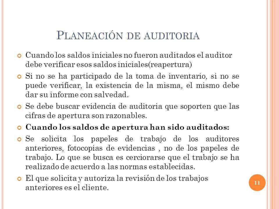 Planeación de auditoria
