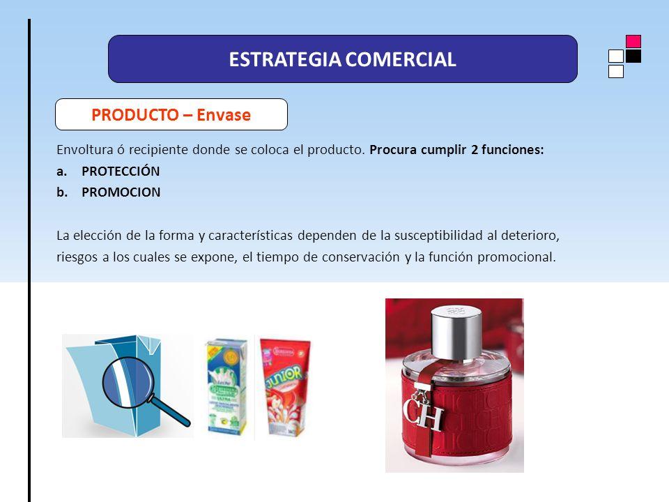 ESTRATEGIA COMERCIAL PRODUCTO – Envase