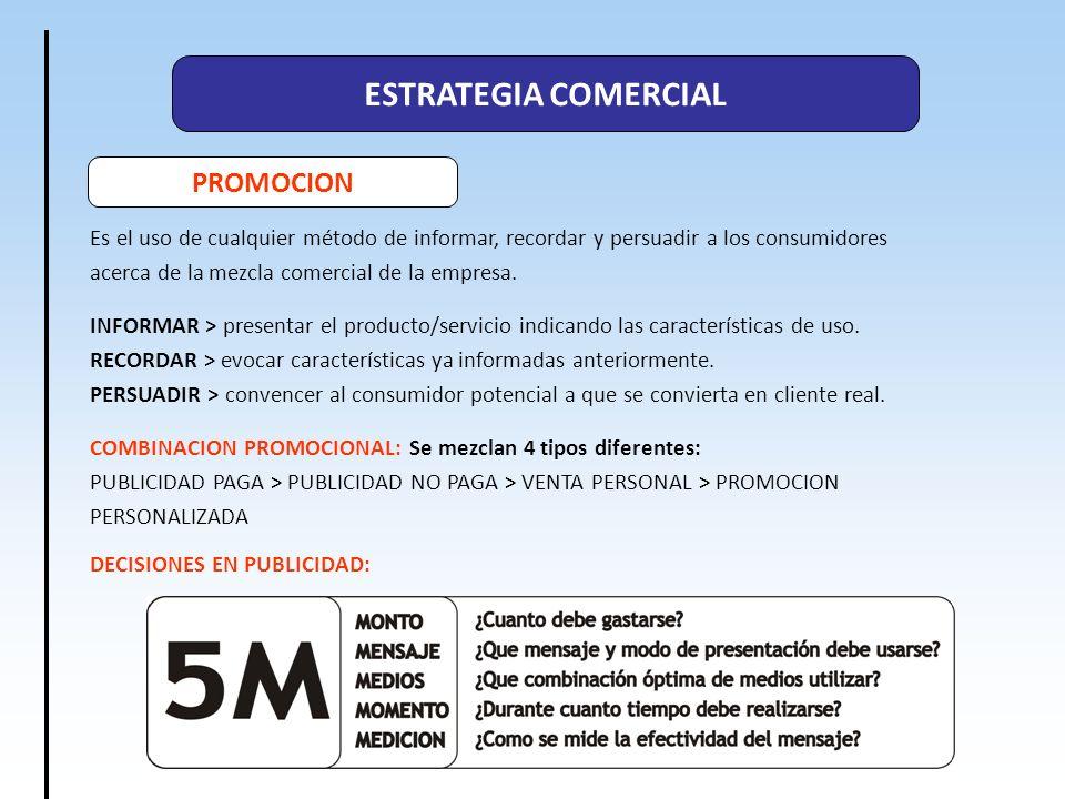 ESTRATEGIA COMERCIAL PROMOCION