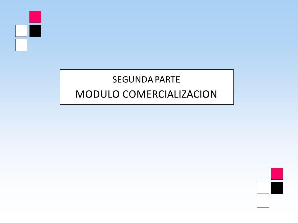 MODULO COMERCIALIZACION