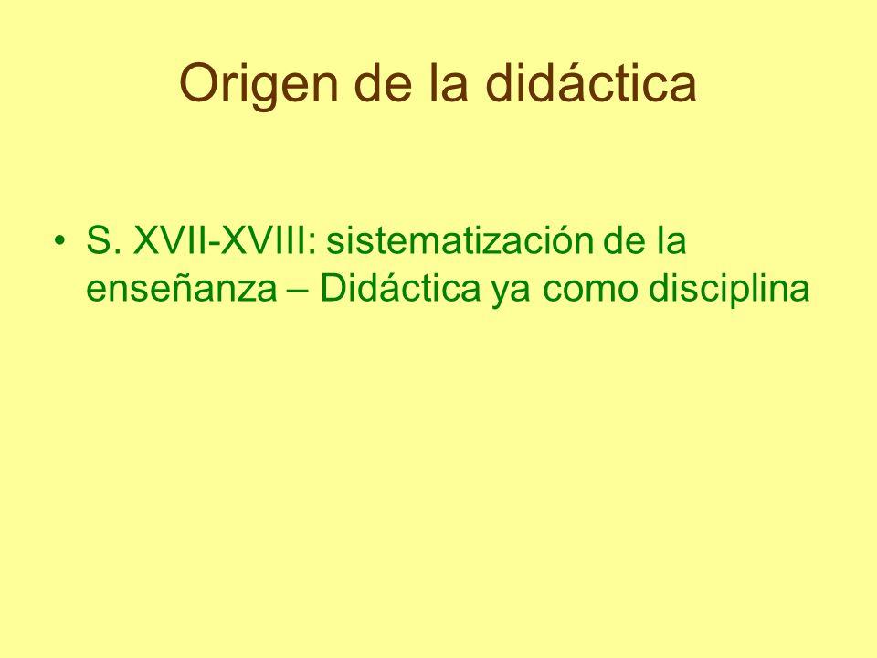 Origen de la didáctica S.