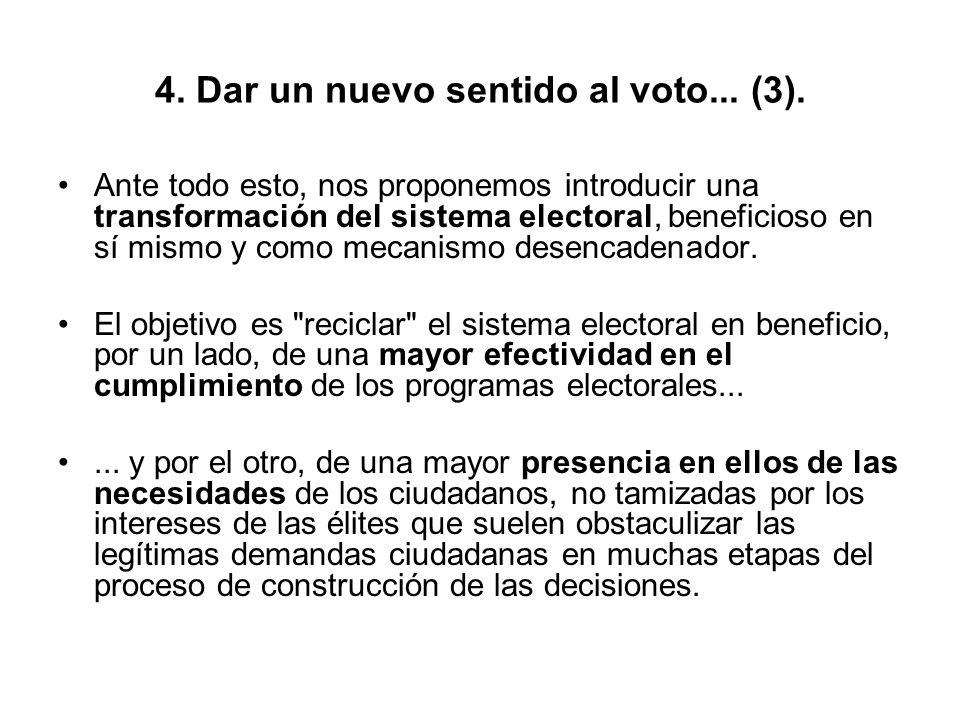 4. Dar un nuevo sentido al voto... (3).