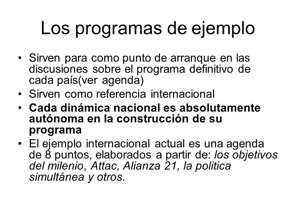 Los programas de ejemplo
