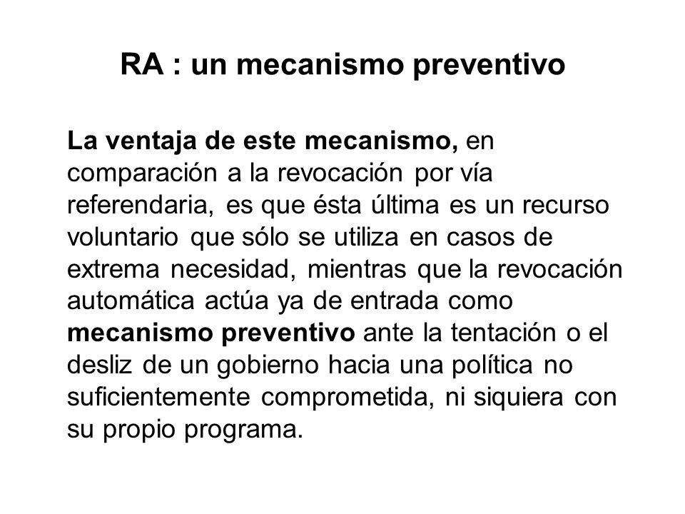 RA : un mecanismo preventivo
