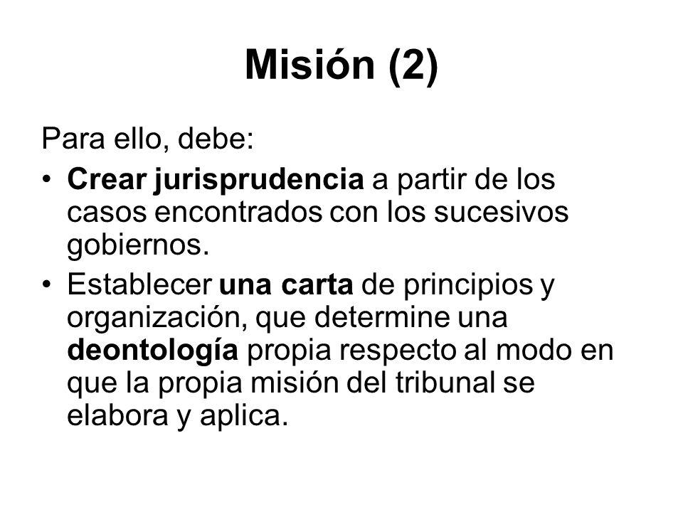 Misión (2) Para ello, debe: